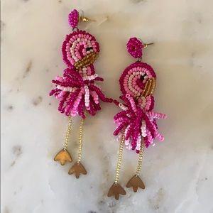 BOGO! Beaded Flamingo Earrings